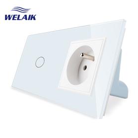 Wyłącznik dotykowy zestaw 1+G biały WELAIK