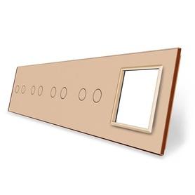 Panel szklany 2+2+2+2+G złoty
