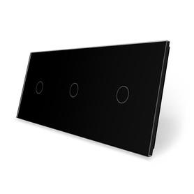 Panel szklany 1+1+1 czarny