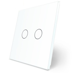 Podwójny biały panel szklany LIVE ON LOVE