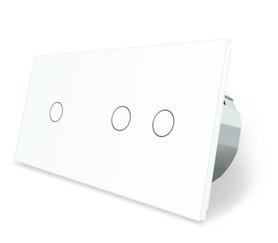Wyłącznik dotykowy zestaw 1+2 biały WELAIK