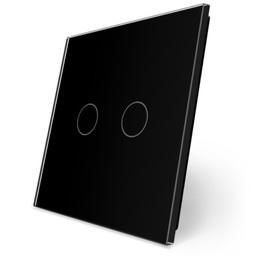 Podwójny czarny panel szklany LIVE ON LOVE