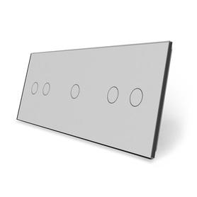 Panel szklany 2+1+2 szary