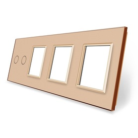 Panel szklany 2+G+G+G złoty