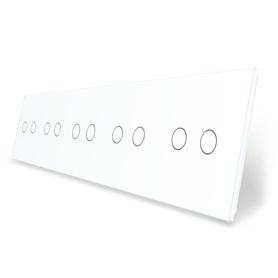 Panel szklany dziesięciokrotny biały LIVE ON LOVE