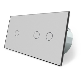 Wyłącznik dotykowy zestaw 1+2 szary