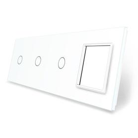 Panel szklany 1+1+1+G biały LIVE ON LOVE