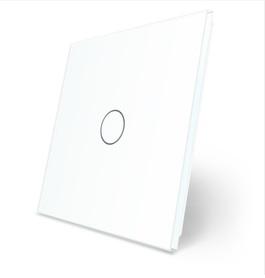 Pojedynczy biały panel szklany LIVE ON LOVE