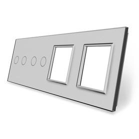 Panel szklany 2+2+G+G szary