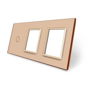 Panel szklany 1+G+G złoty