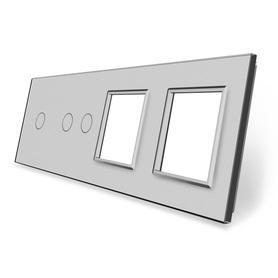 Panel szklany 1+2+G+G szary