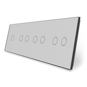 Panel szklany 1+2+2+2 szary