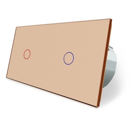 Wyłącznik dotykowy zestaw 1+1 złoty
