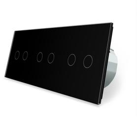 Wyłącznik dotykowy zestaw 2+2+2 czarny WELAIK
