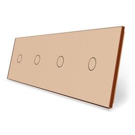 Panel szklany 1+1+1+1 złoty