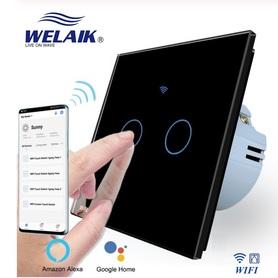 Włącznik roletowy / żaluzjowy WIFI zestaw czarny WELAIK ®