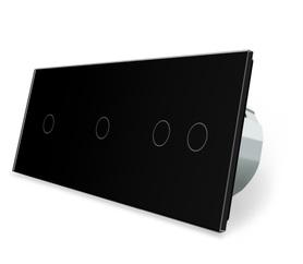 Wyłącznik dotykowy zestaw 1+1+2 czarny WELAIK