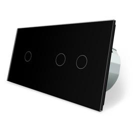 Wyłącznik dotykowy zestaw 1+2 czarny WELAIK