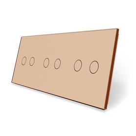Panel szklany 2+2+2 złoty