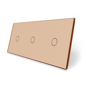 Panel szklany 1+1+1 złoty