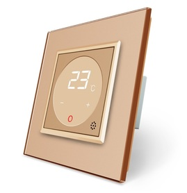 Termostat pokojowy regulator temperatury 01TM-13/SR-13 komplet z ramką szklaną