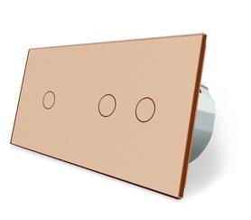 Wyłącznik dotykowy zestaw 1+2 złoty