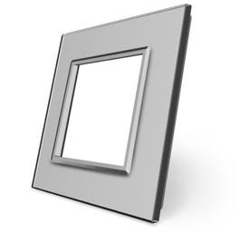Ramka szklana pojedyncza szara SR-15 WELAIK ®