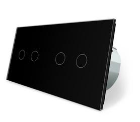 Wyłącznik dotykowy zestaw 2+2 czarny WELAIK