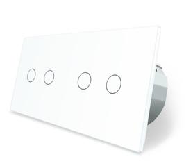 Wyłącznik dotykowy zestaw 2+2 biały WELAIK