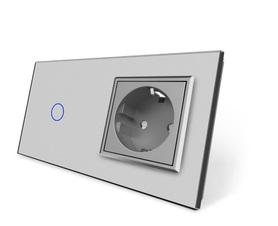 Wyłącznik dotykowy zestaw 1+G szary