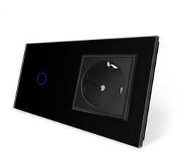 Wyłącznik dotykowy zestaw 1+G czarny