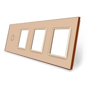 Panel szklany 1+G+G+G złoty