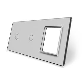 Panel szklany 1+1+G szary
