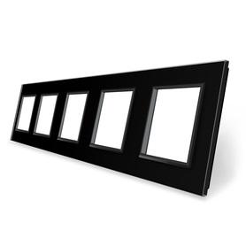 Ramka szklana 5 czarna do gniazdek-modułów WELAIK