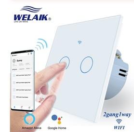 Włącznik dotykowy WIFI podwójny zestaw biały WELAIK ®