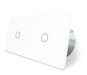 Wyłącznik dotykowy zestaw 1+1 biały WELAIK