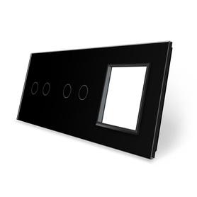 Panel szklany 2+2+G czarny LIVE ON LOVE