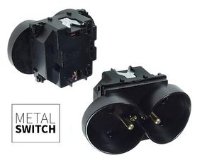 MetalSwitch moduł gniazda podwójnego czarny