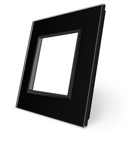 Ramka pojedyncza szklana czarna SR-12 WELAIK ®
