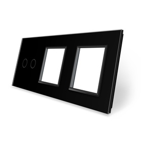 Panel szklany 2+G+G czarny LIVE ON LOVE