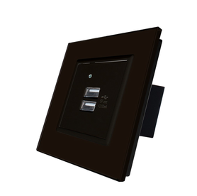 USB ładowarka podwójna czarna zestaw Welaik