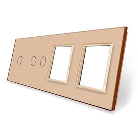 Panel szklany 1+2+G+G złoty