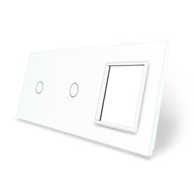 Panel szklany 1+1+G biały