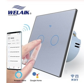 Włącznik roletowy / żaluzjowy WIFI zestaw szary WELAIK ®
