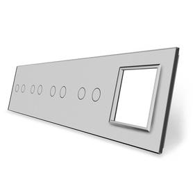 Panel szklany 2+2+2+2+G szary