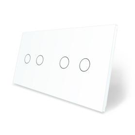 Panel szklany 2+2 biały WELAIK