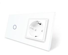 Wyłącznik dotykowy zestaw 1+G biały