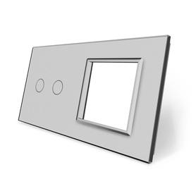 Panel szklany 2+G szary