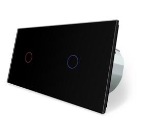 Wyłącznik dotykowy zestaw 1+1 czarny WELAIK