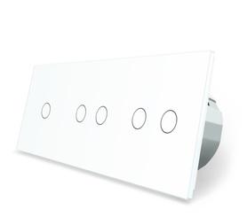 Wyłącznik dotykowy zestaw 1+2+2 biały WELAIK